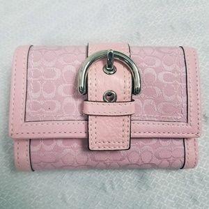 Coach Vintage Pink Belt Wallet